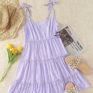 Beautiful NEW tie shoulder cami dress
